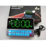 Преносимо Акумулаторно USB Радио с часовник Happy Sheep CR562,USB, SD карта, Вграден фенер