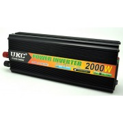 Висококачeствен инвертор за автомобил UKC 12V-220V, 2000W