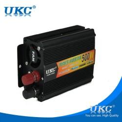 Висококачeствен инвертор за автомобил UKC 12V-220V, 500W