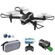 Мини сгъваем дрон - две 4K камери, 3D флипове/задържане  на траекторията/сензор за гравитация/контрол със жестове/връщане